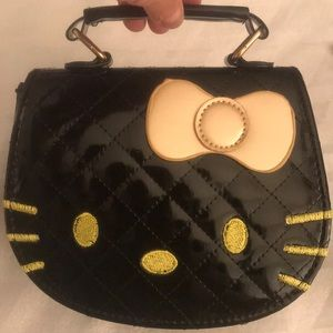 NEW Hello Kitty Purse 👛 Black Faux Leather